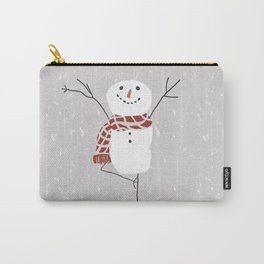 Snowman yoga - the tree Carry-All Pouch