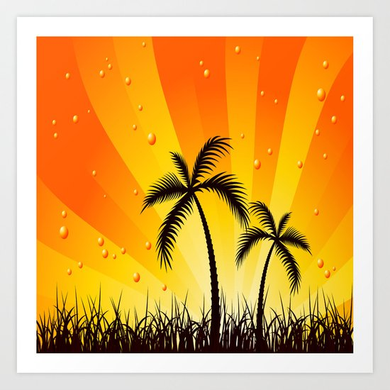 Tropical Two Art Print