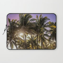 PURPLE AND GOLD SKIES Laptop Sleeve