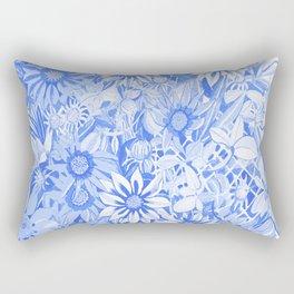 Blue gazanias Rectangular Pillow