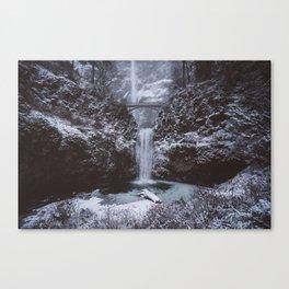 Winterland Waterfall #society6 Canvas Print