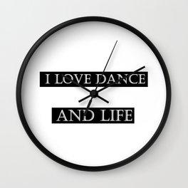 I love ... black Wall Clock
