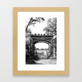 Forest Ruins Framed Art Print