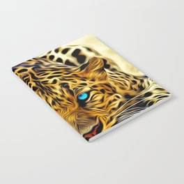 A blue eyes African tiger Notebook
