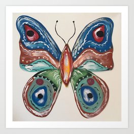 Butterfly Boho Bohemian Art Print