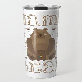 Autism Mama Bear Autistic Child Awareness Day Gift Travel Mug