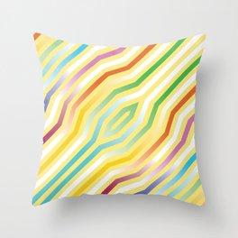 Symmetric diagonal stripes background 3 Throw Pillow