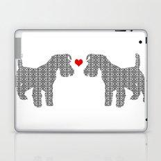 Schnauzer Dog Art , floral dog, damask dog art Laptop & iPad Skin