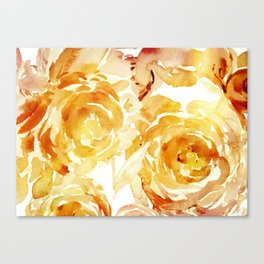 Sunny Day Painterly Floral Abstract Canvas Print