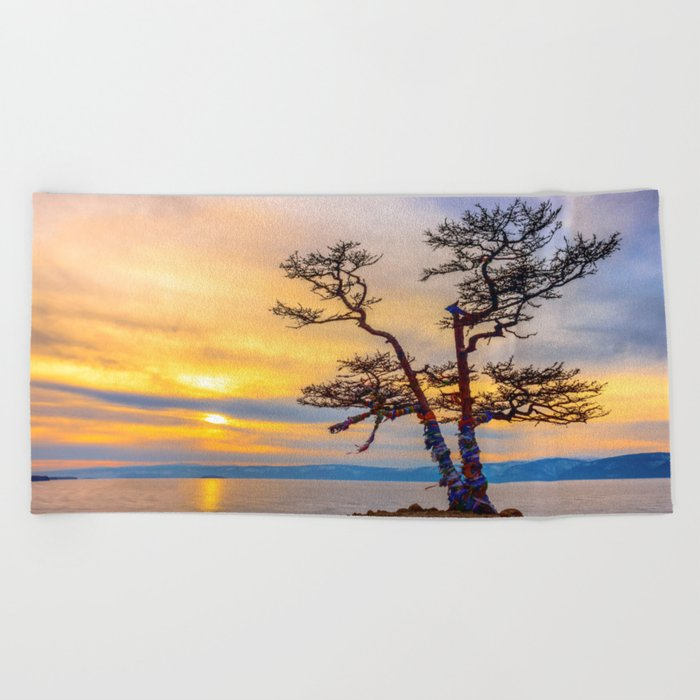 Baikal pine Beach Towel