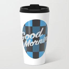 Good Morning in Blue Travel Mug