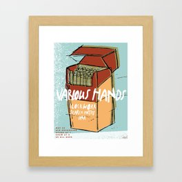 Cigs Framed Art Print