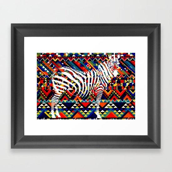 Tribal Zebra Framed Art Print