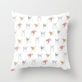Bunny Elves Throw Pillow