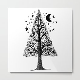The night tree Metal Print