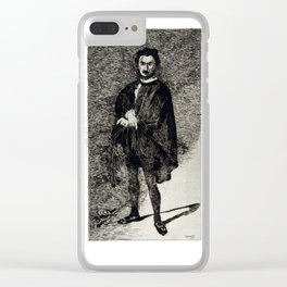 Édouard Manet The Tragic Actor Rouvière in the Role of Hamlet Clear iPhone Case
