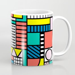 Memphis Color Block Coffee Mug