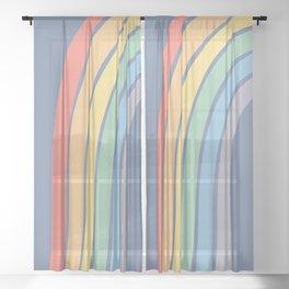 Rainbow Pieces Sheer Curtain