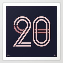 DEC 20 Art Print