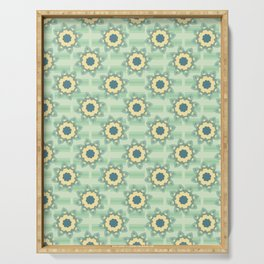 Spring Flower Motif Daisy Style Seamless Serving Tray
