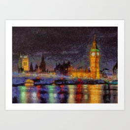Midnight in London Art Print