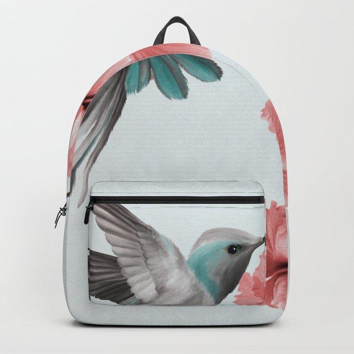 Hummingbird with Hibiscus Rucksack