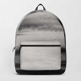 WHITE & BLACK TOUCHING #2 #abstract #decor #art #society6 Backpack