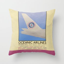 Silver Screen Tourism: OCEANIC AIRLINES / LOST Throw Pillow