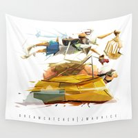 dream catcher Wall Tapestries featuring DREAM CATCHER by J Maurice