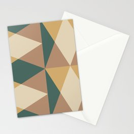 Mid Century Modern Geometric Pattern 437 Stationery Cards