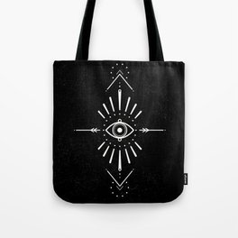 Evil Eye Monochrome Tote Bag