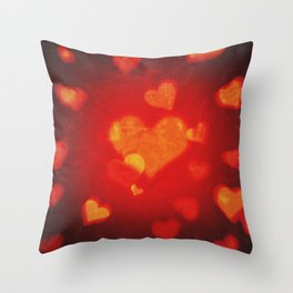 st. valentine heart shape red background Throw Pillow