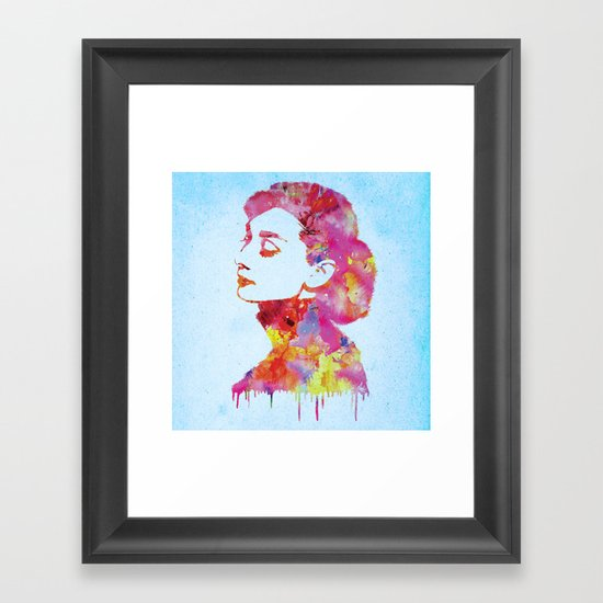 Audrey .2 Framed Art Print