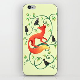 Bunnies and a Fox iPhone Skin