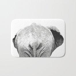 Black and white elephant animal jungle Bath Mat