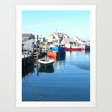 maritimes dock Art Print