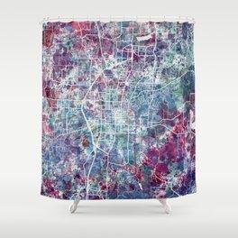 Fayetteville map Arkansas Shower Curtain