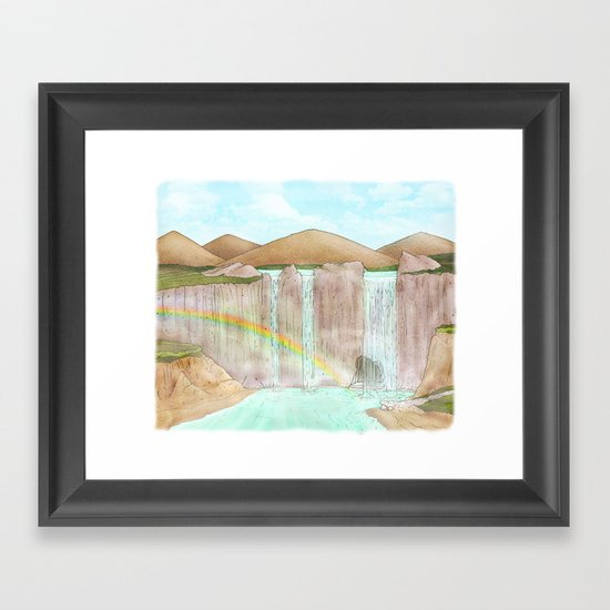 Rainbow / Waterfalls Framed Art Print