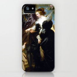 Peter Paul Rubens, His Wife Helena Fourment iPhone Case