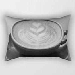 Cappuccino Heart Rectangular Pillow