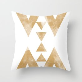 MOON MUSTARD Throw Pillow