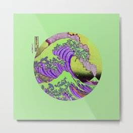 Great Wave Off Kanagawa-Mount Fuji Metal Print