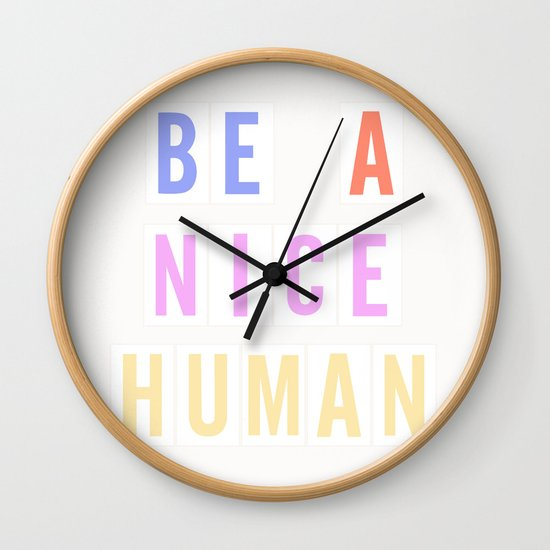 Be a Nice Human - Neon Sign by poppiesandpalms