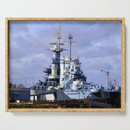 USS North Carolina BB-55 Serving Tray