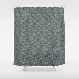 Going Round and Round - Pink/Aqua/Grey Shower Curtain