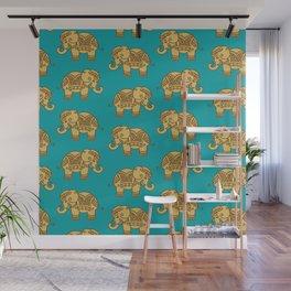 Elephant Pattern Wall Mural