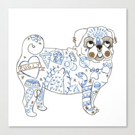 Pug Rock Canvas Print