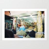 Marakech Market Art Print