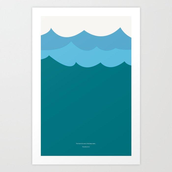 the heart of man poster Art Print