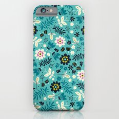 Fresh Blossoms (Greens) Slim Case iPhone 6s